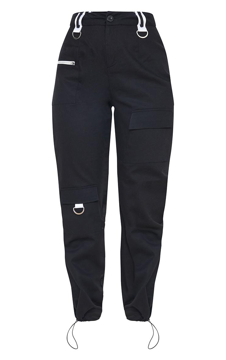 Black Pocket Detail Cargo Trouser 5