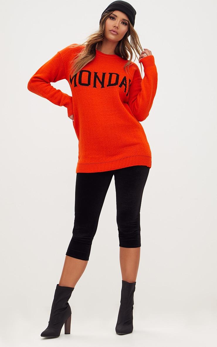 Orange Monday Slogan Jumper 4