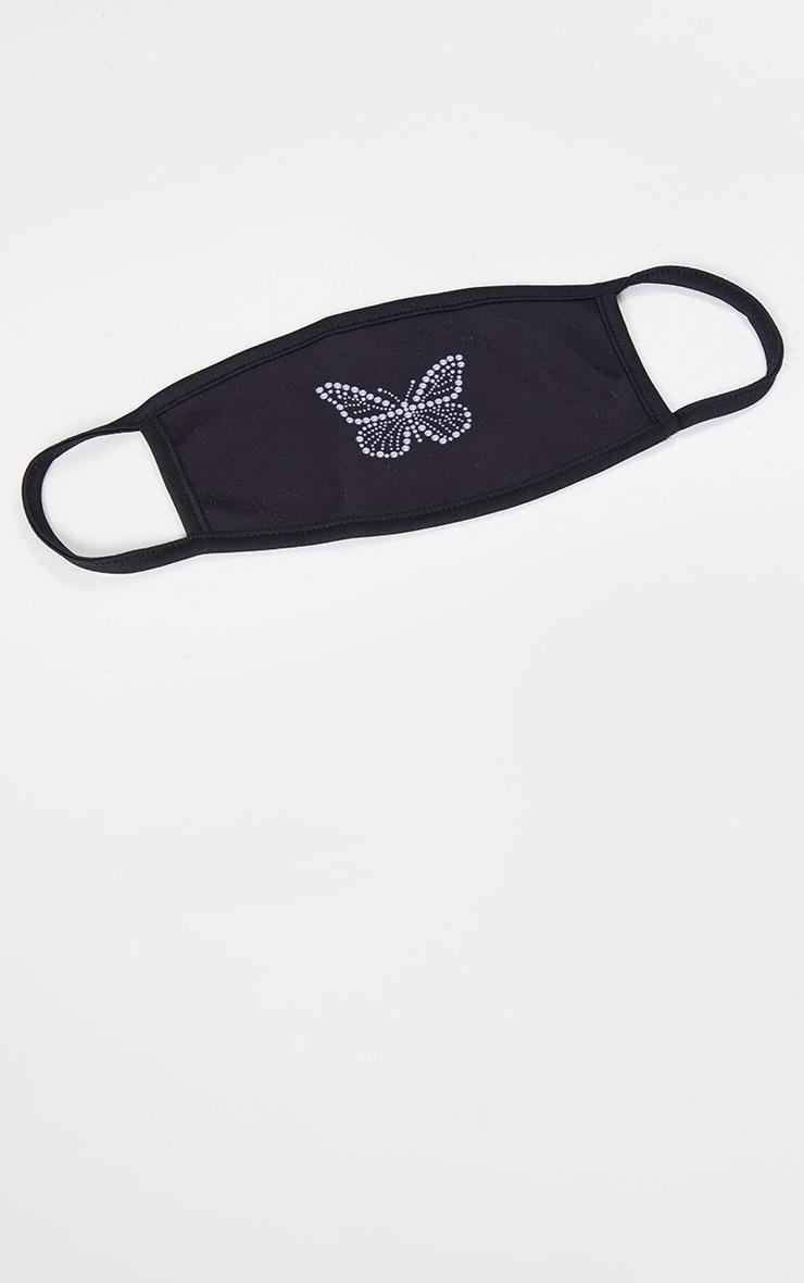 Black Butterfly Face Mask 2