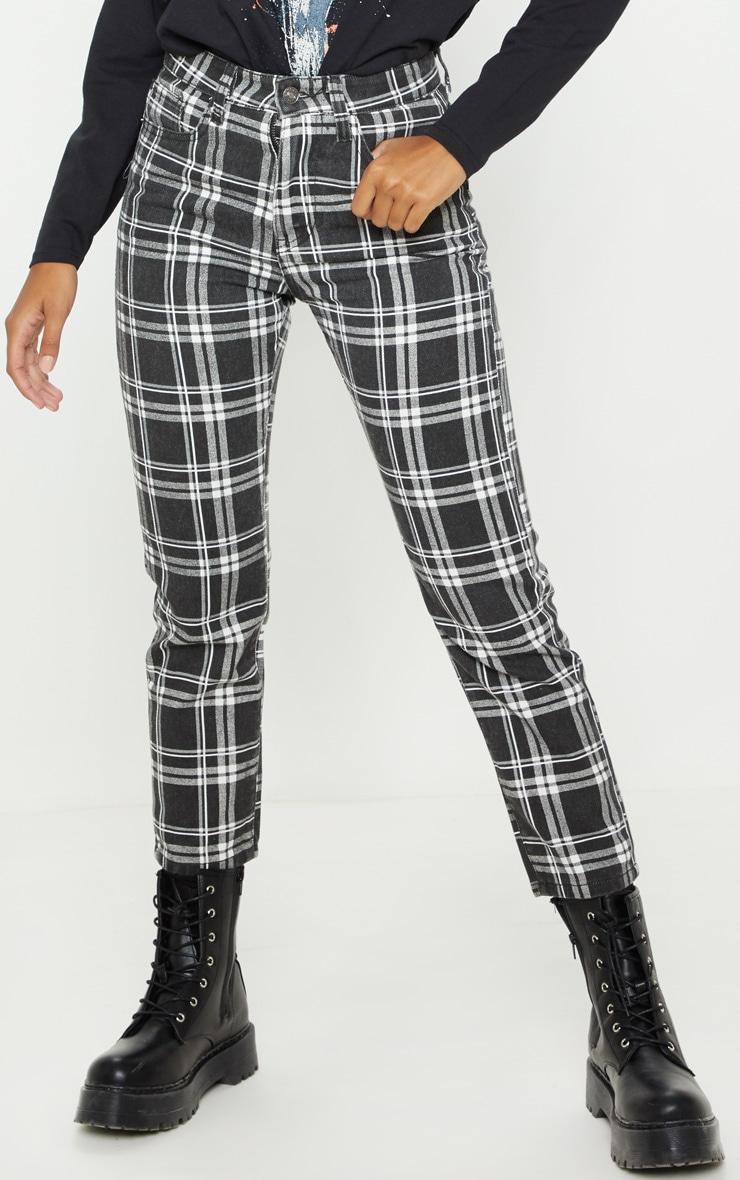 Monochrome Check Jeans 2