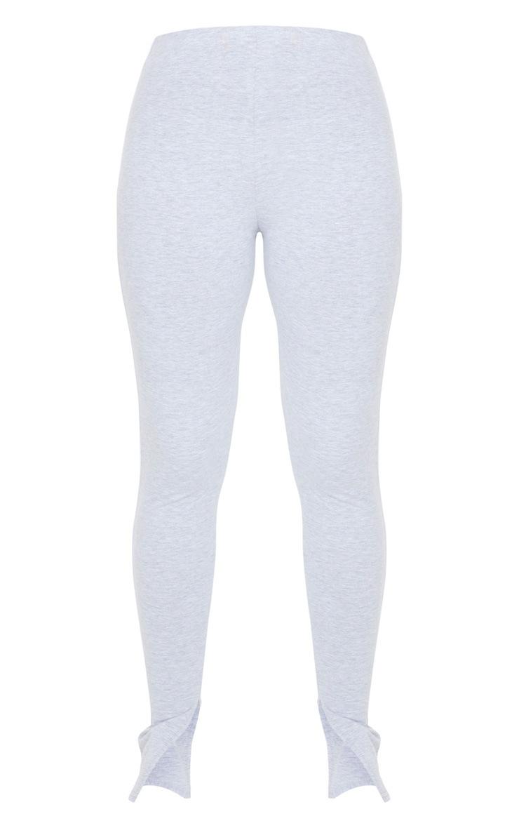 Grey Sports Stripe High Waisted Split Hem Pants 5