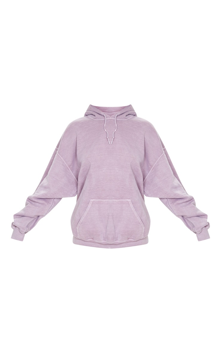 Dusty Lilac Washed Ultimate Oversized Hoodie 3