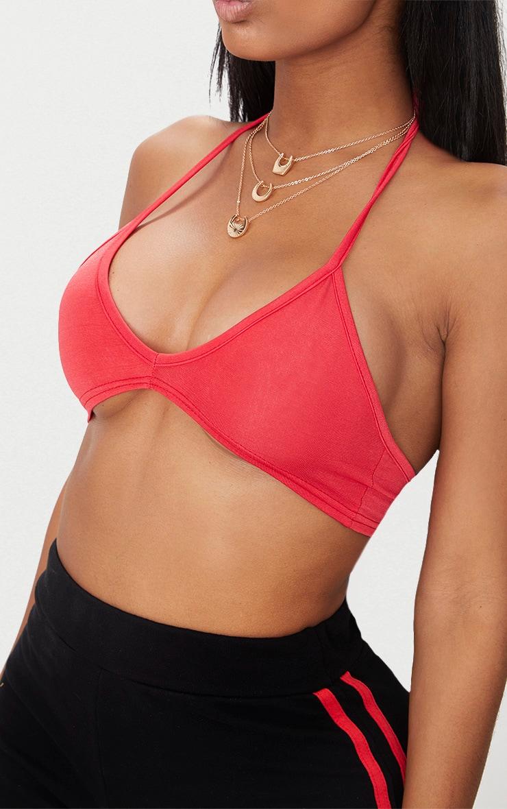 Shape Red Slinky Halterneck Bralet 5