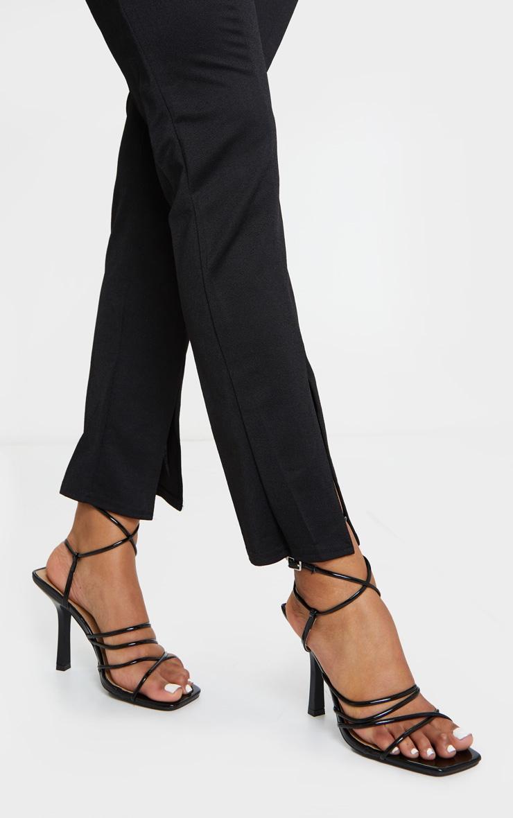 Black Squared Strappy Heels 3