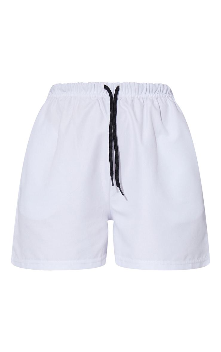 White Peached Runner Shorts 6