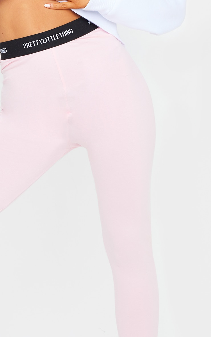 PRETTYLITTLETHING Baby Pink Tape Leggings 4