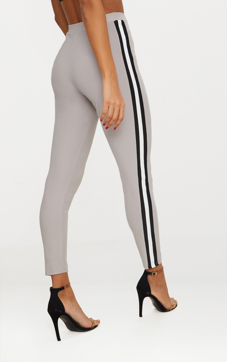 Grey Side Stripe Tape Skinny Trouser 4