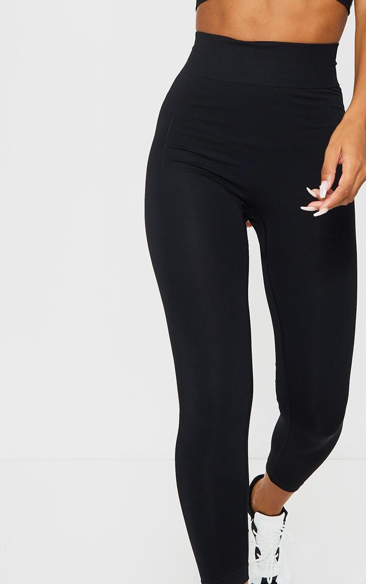 PRETTYLITTLETHING Black Contour High Waisted Seamless Leggings 4