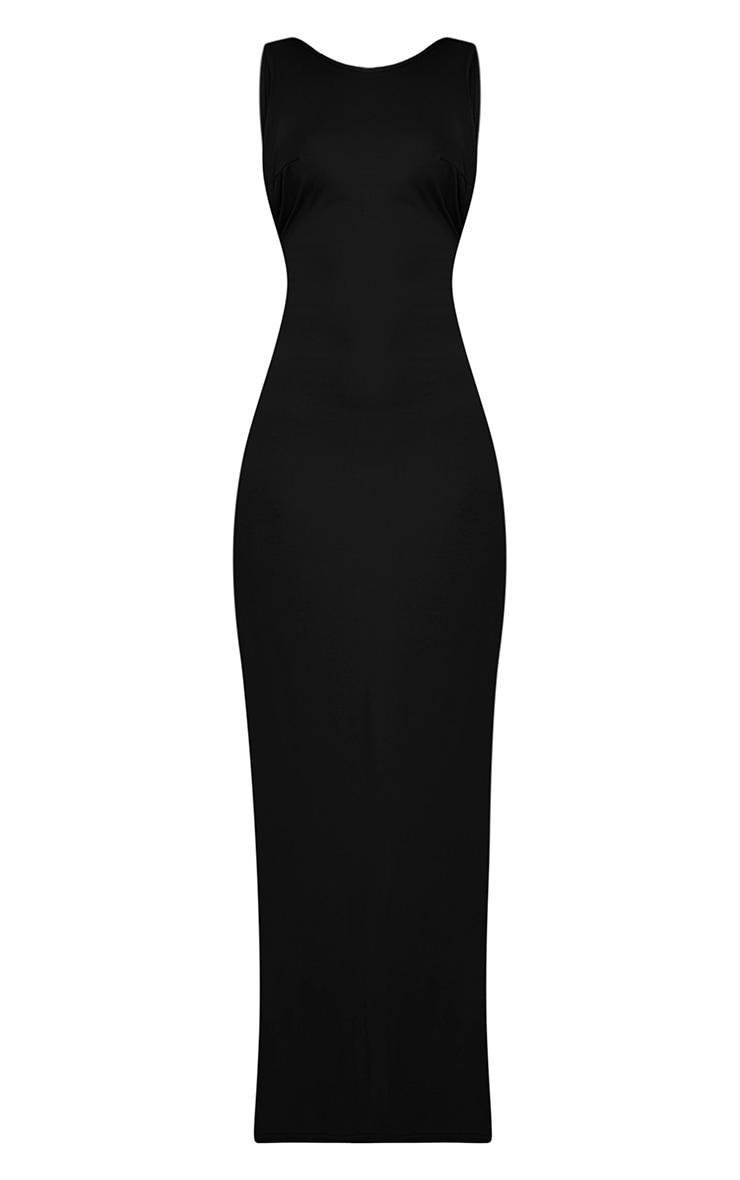 Basic robe maxi à emmanchures larges noire 3