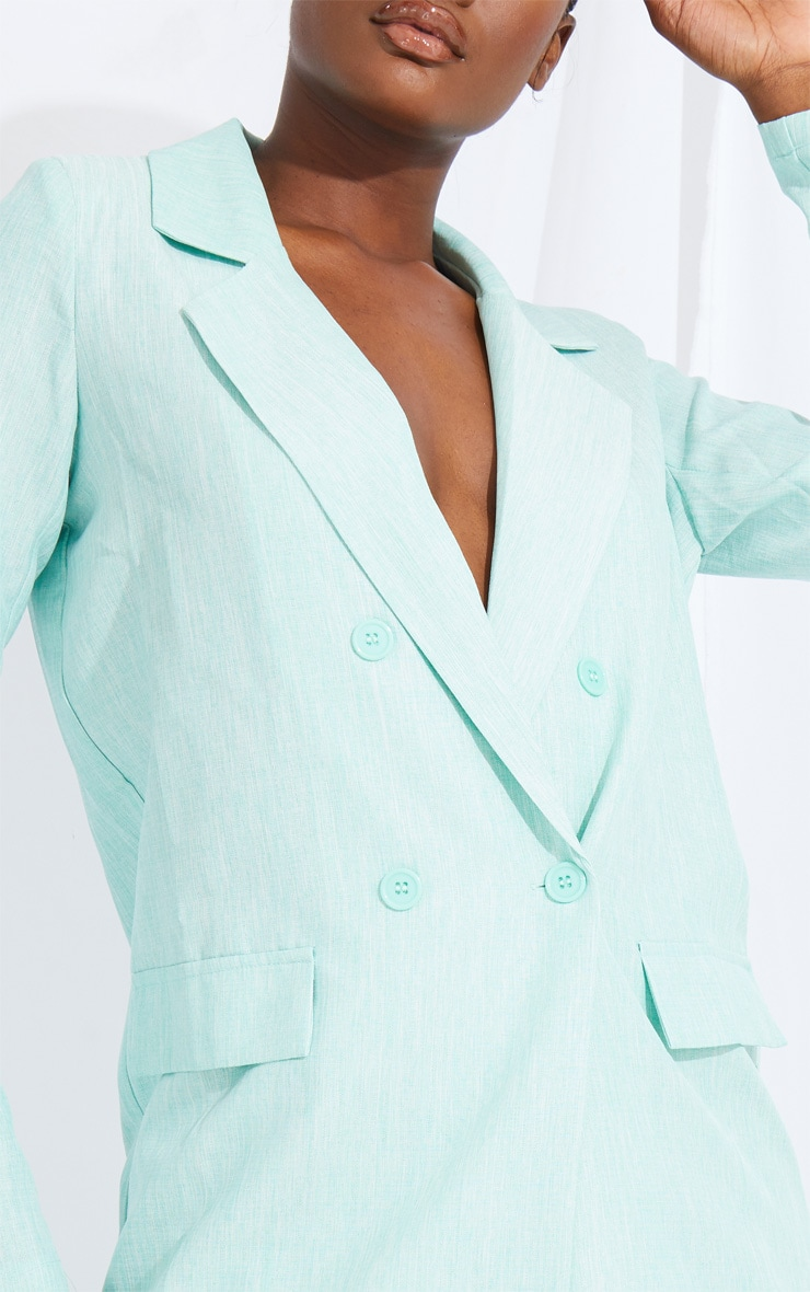 Tall Mint Oversized Boyfriend Blazer 4