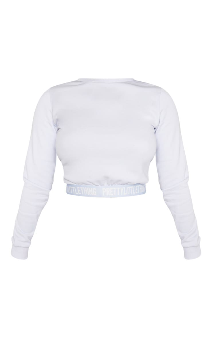 PRETTYLITTLETHING Petite Baby Blue Lounge Sweat 3