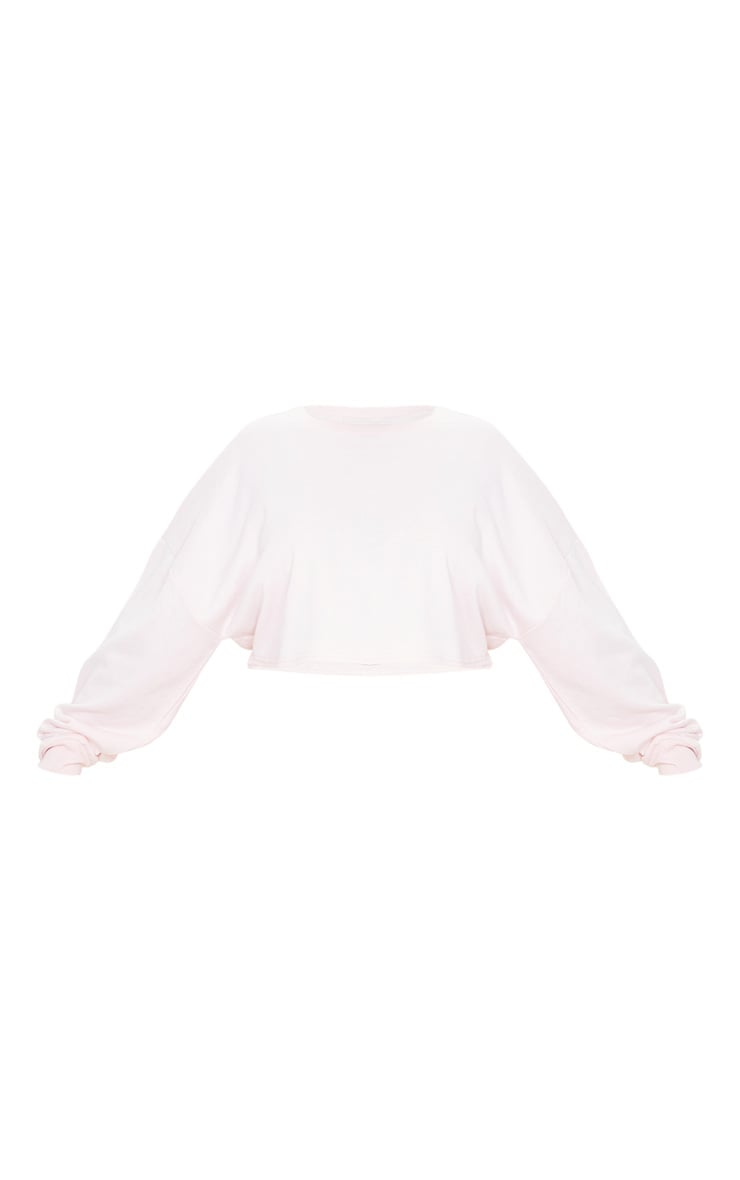 Plus Blush Crop Sweater 4