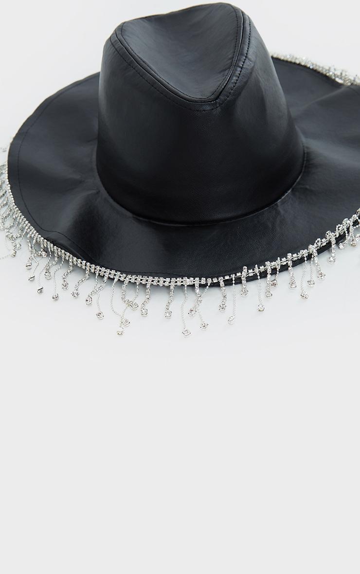 Black Diamante Trim Fedora 2