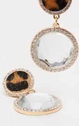 Leopard Diamante Statement Earrings 3