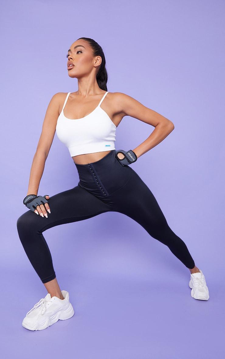Black Waist Trainer Gym Leggings 1