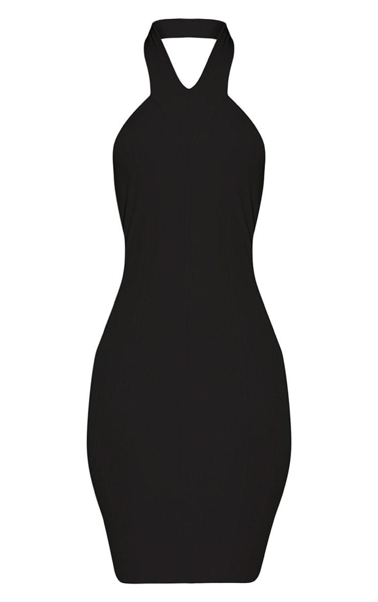 Chessie Black Halterneck Bandage Bodycon Dress 3