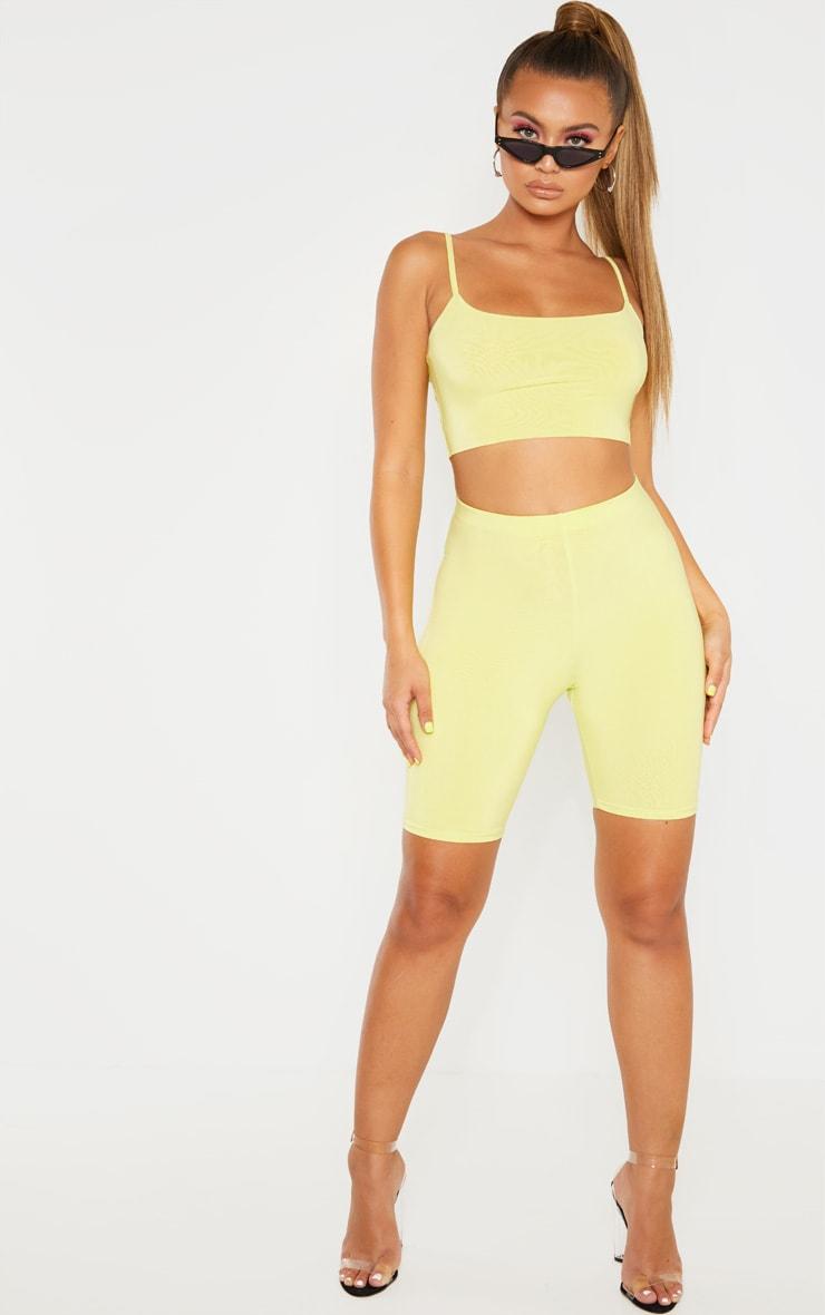 Short-legging long vert citron clair Mix & Match  5
