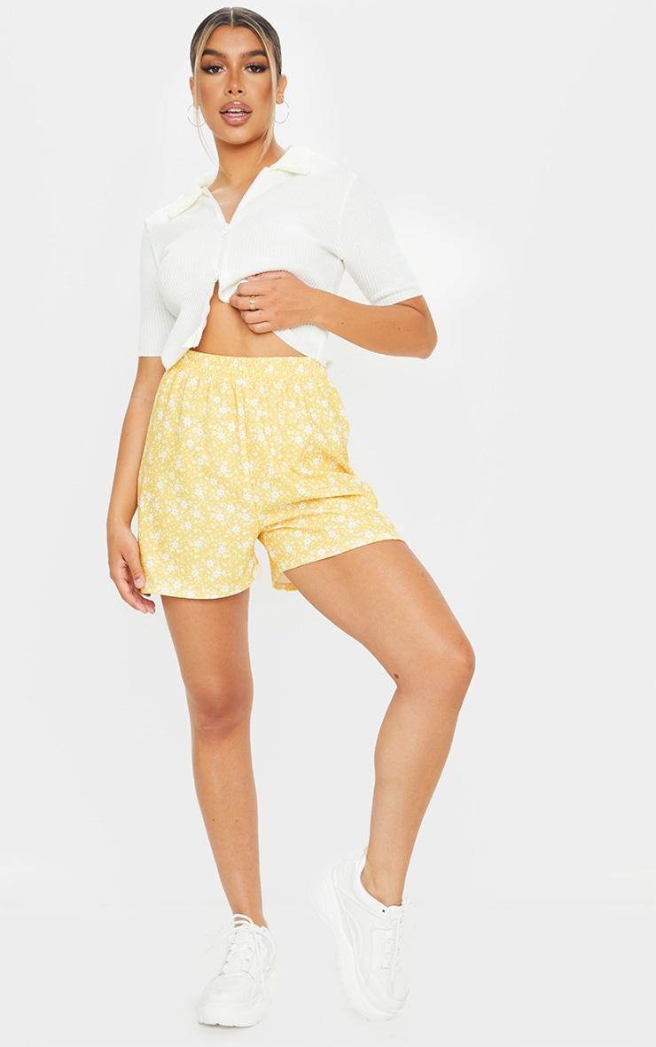Yellow Oversized Floaty Shorts 4