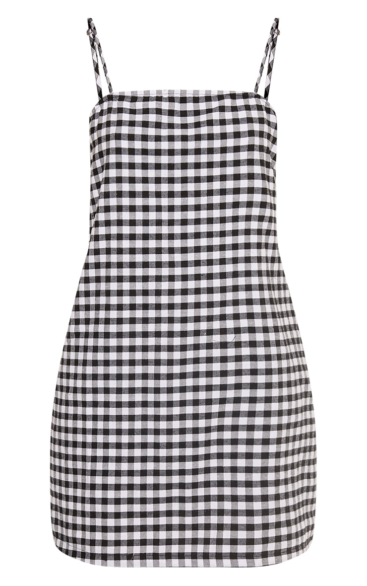 Raye Black Gingham Woven Shift Dress 3