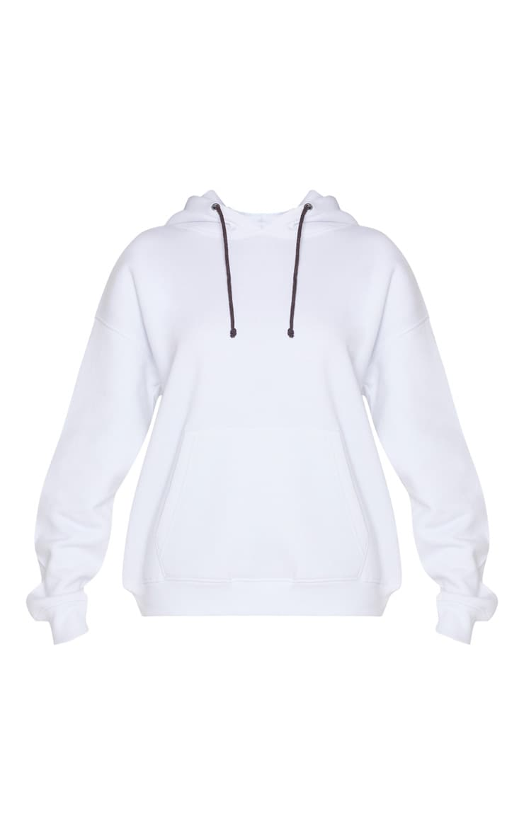 White Pocket Front Oversized Hoodie 3