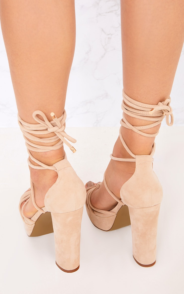 Nude Lace Up Platforms 4