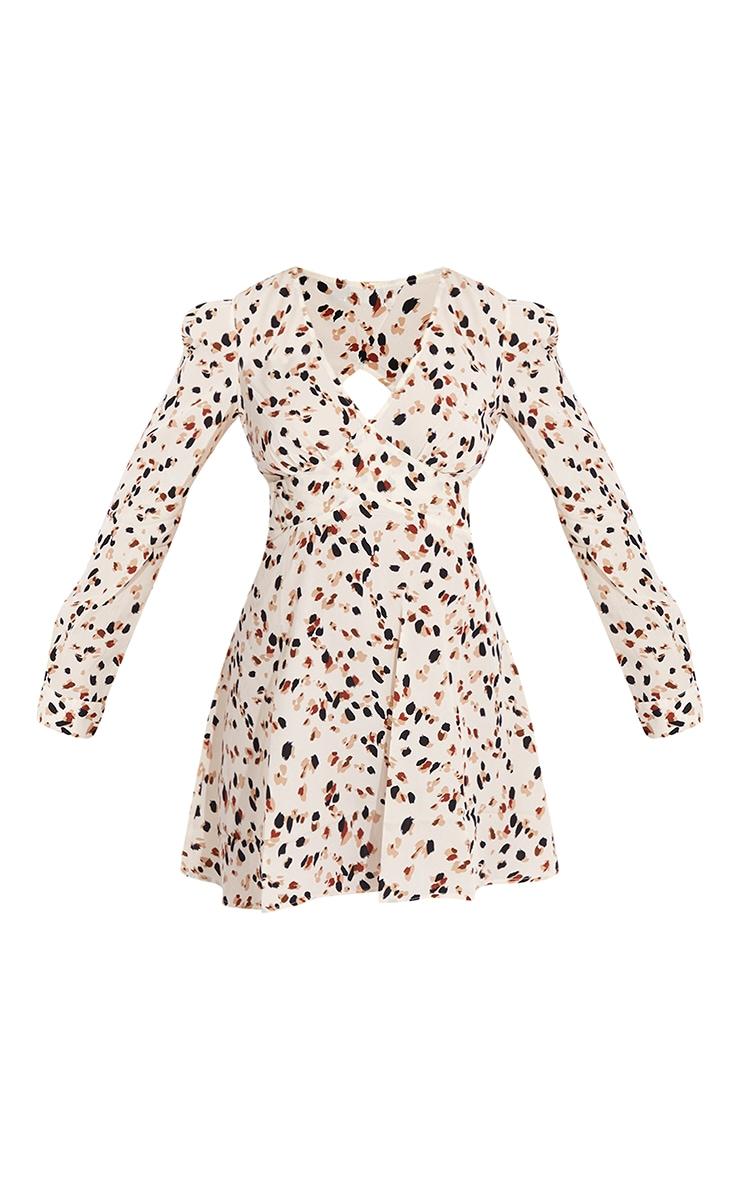 Cream Dalmatian Open Back Detail Shift Dress 5