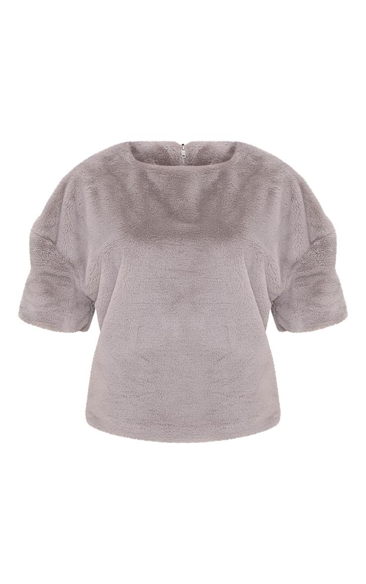 Daisi Grey Fluffy Sweater 3