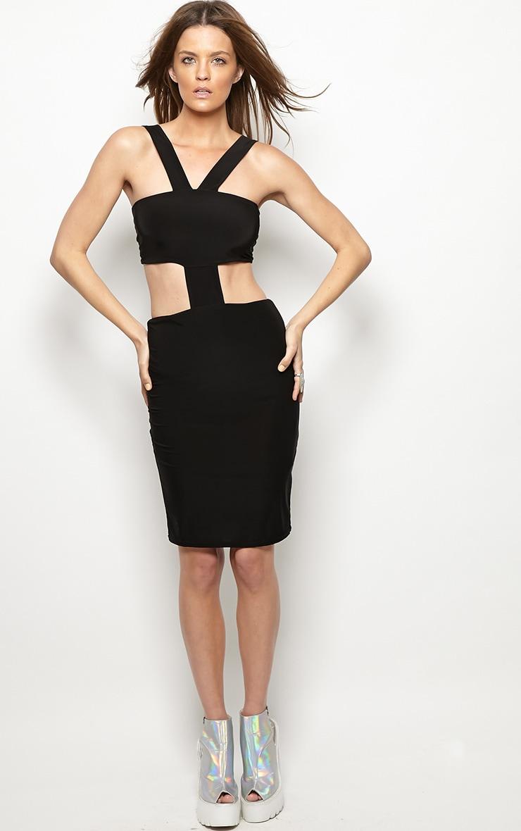 Gianni Black Cut Out Bodycon Dress 3