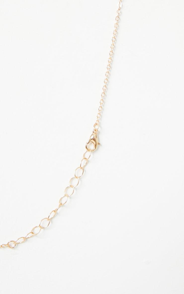 Gold Virgo Star Sign Necklace 4