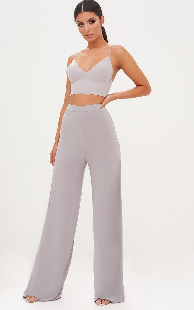 Jill Grey Slinky Palazzo Trousers 1