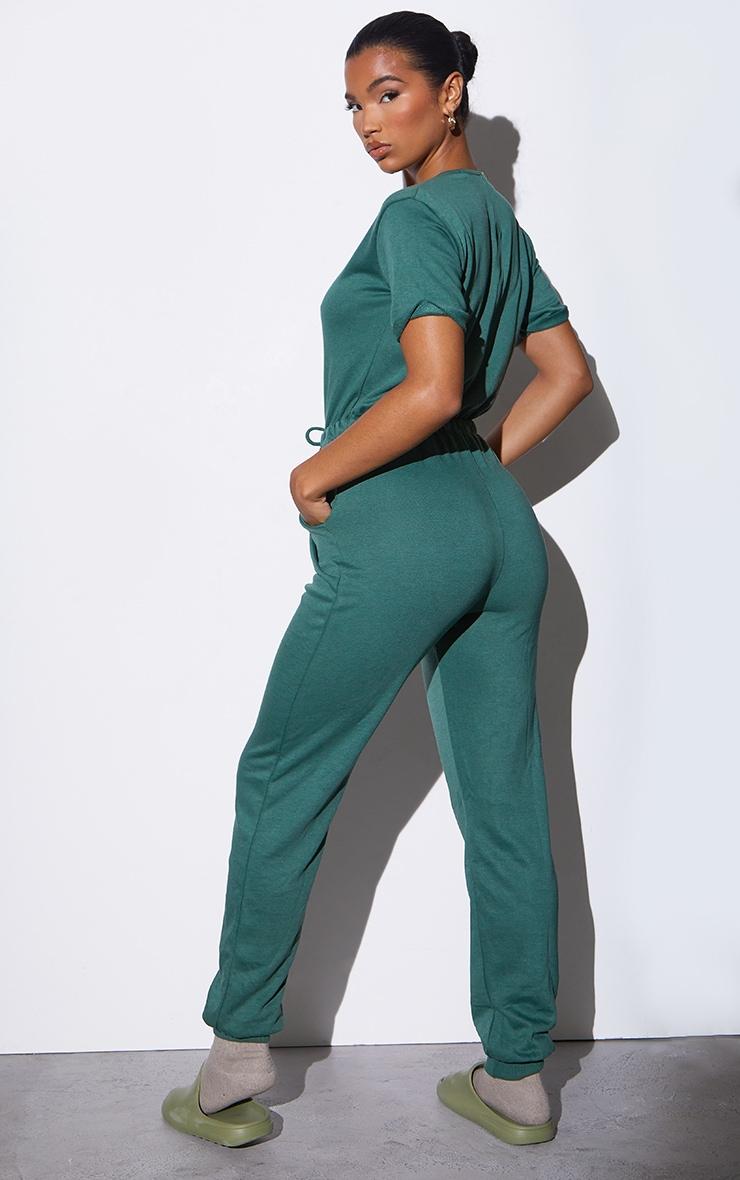 RENEW Green Short Sleeve Sweat Jumpsuit 2