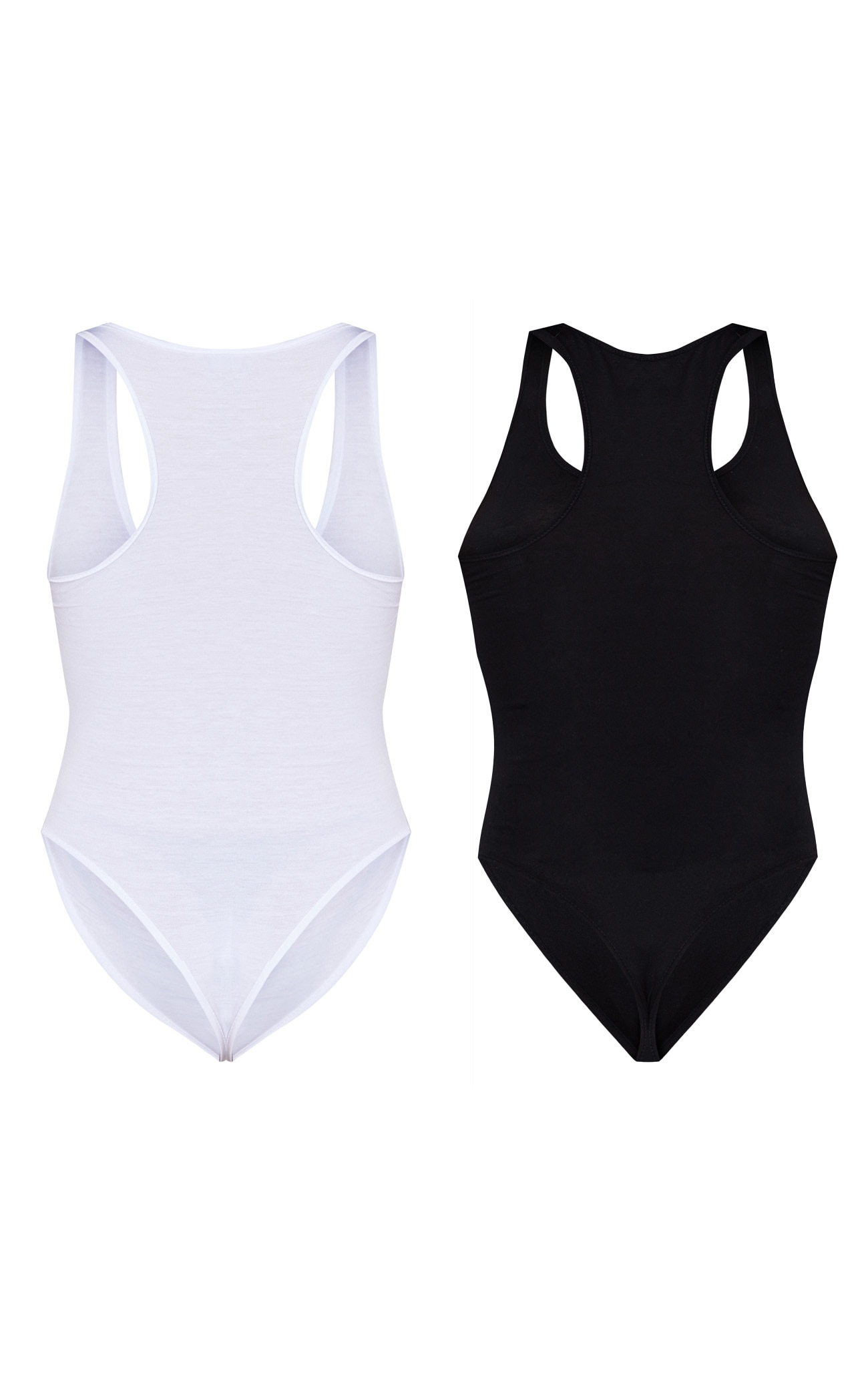 Basic Black & White Racer Back Bodysuit 2 Pack 6