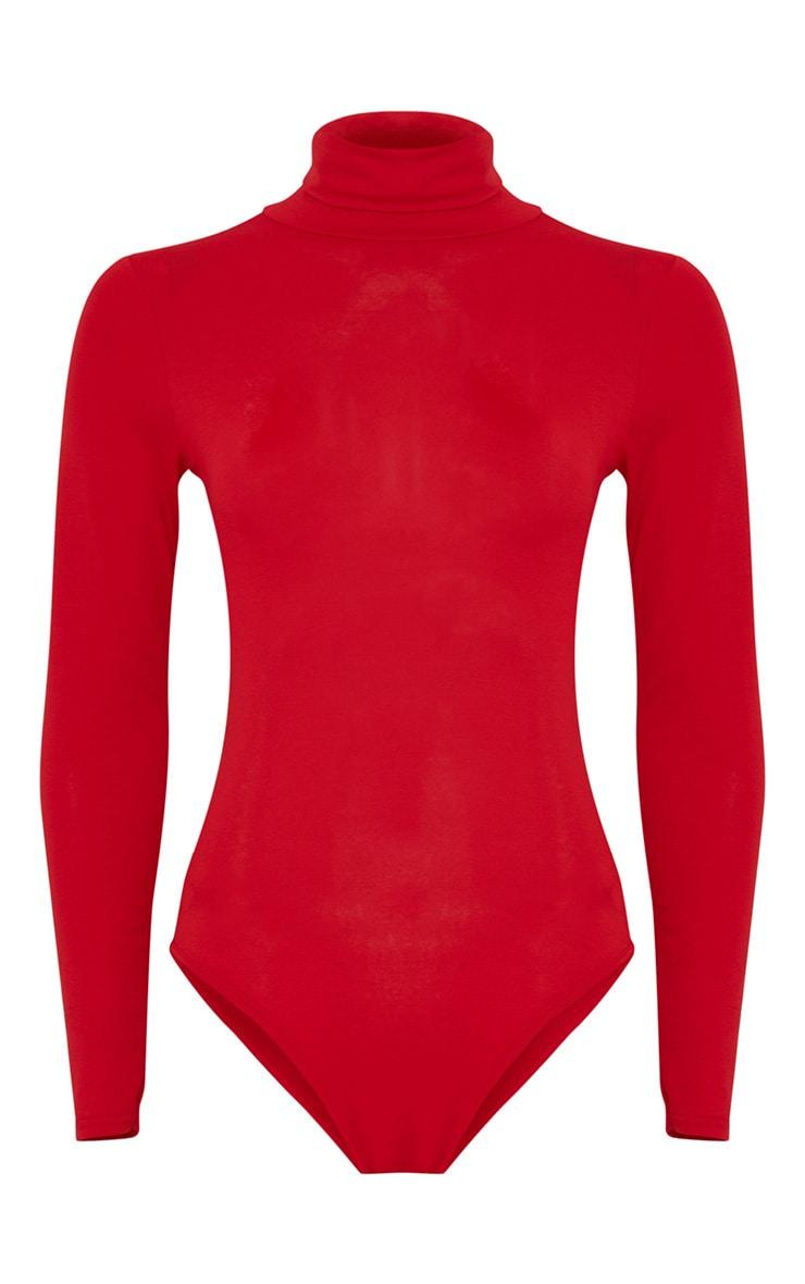 Basic body rouge à col roulé 6