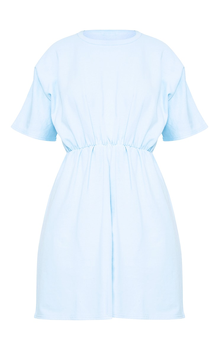 Baby Blue Waist Detail Sweater Dress 3