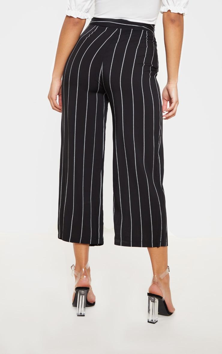 Tazmin jupe-culotte noire à rayures 4