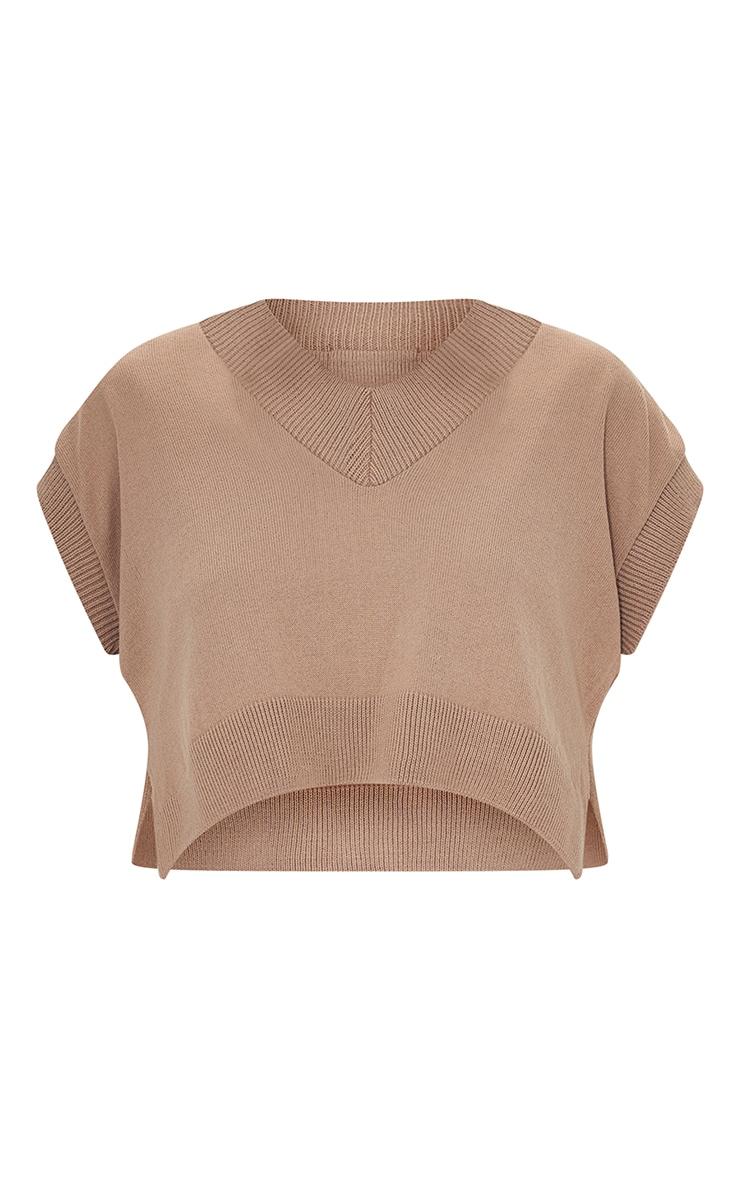 Stone Crop V Neck Knitted Vest 5