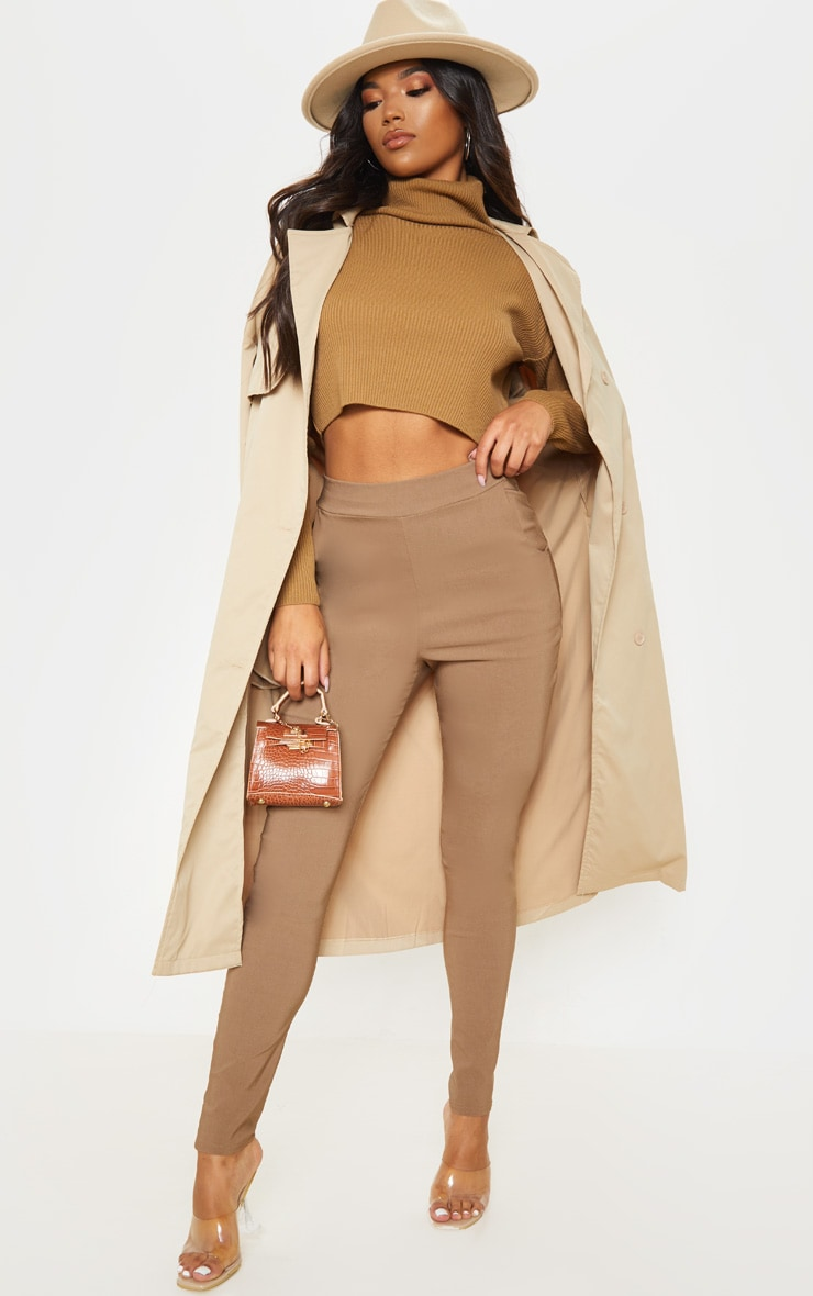 Camel Skinny Trousers 1