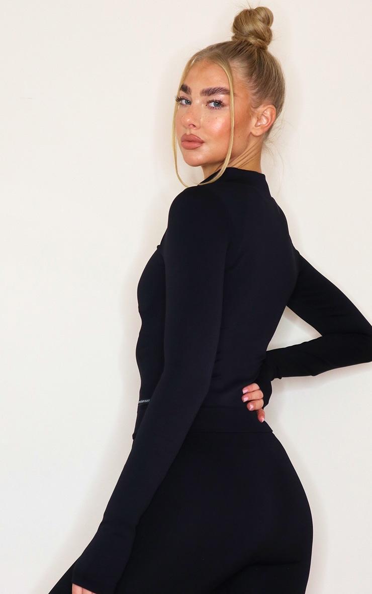 PRETTYLITTLETHING - Veste côtelée noire détail sans coutures 2