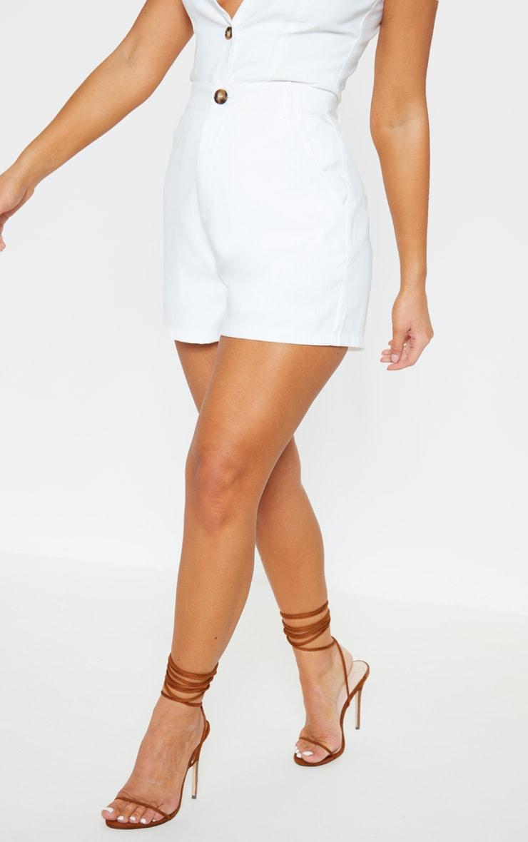 Cream Formal Suit Short 4