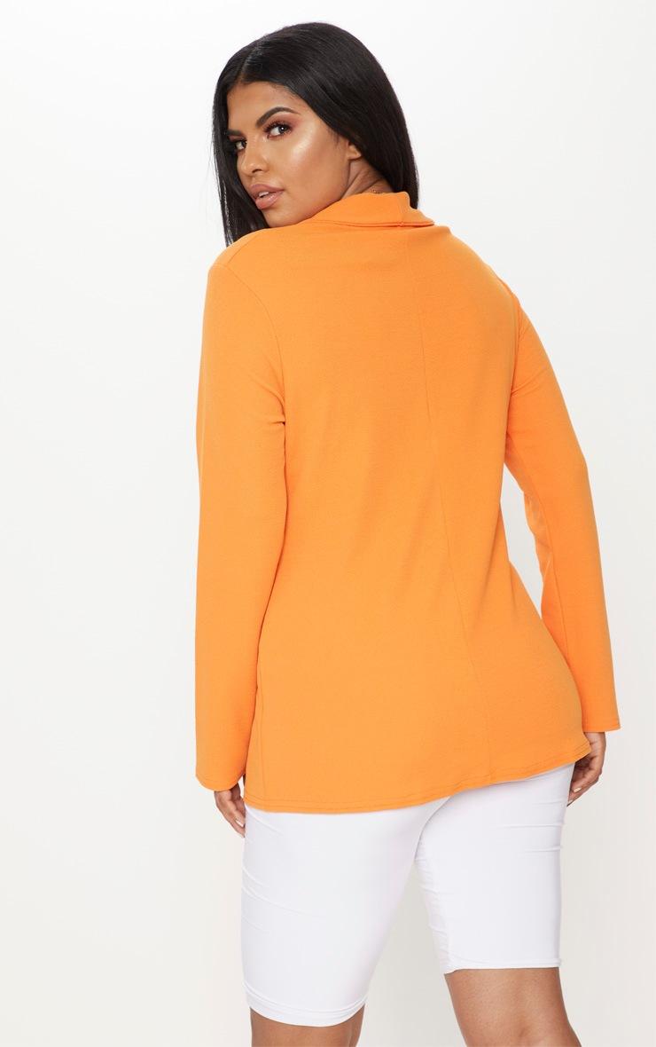 Plus Orange Wrap Detail Blazer 2