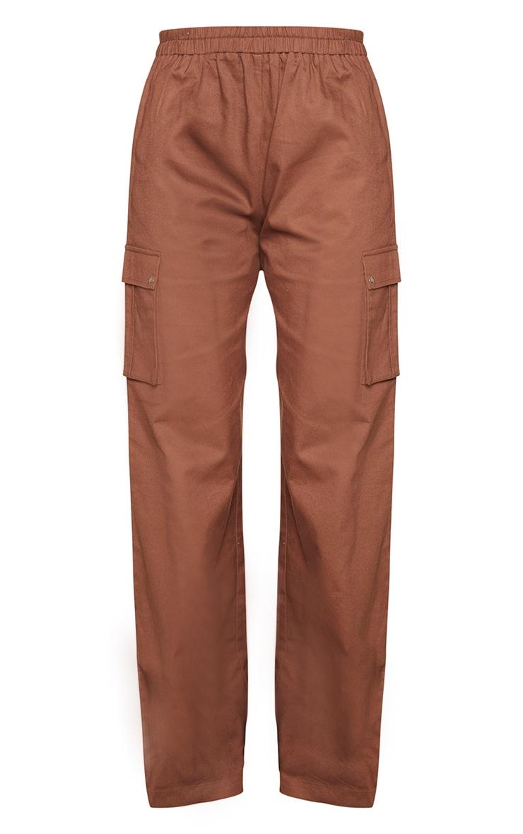 Chocolate Wide Leg Cargo Pants 5