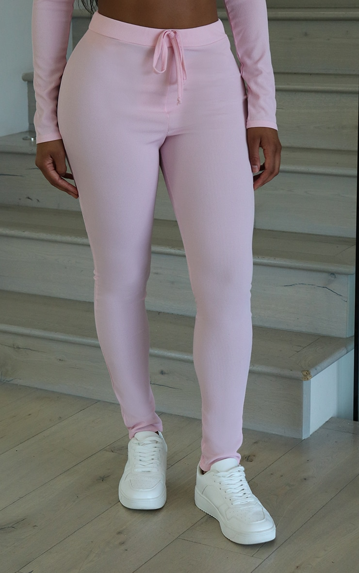 Shape Dusty Pink Ribbed High Waist Leggings 2