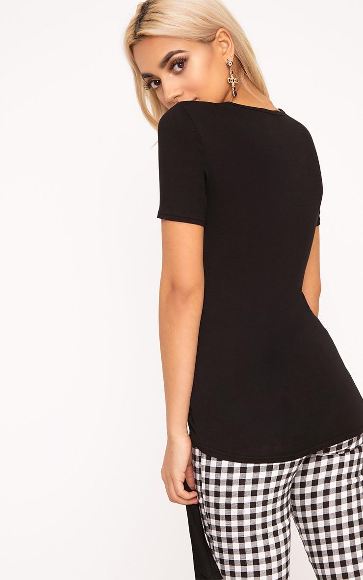 Black Tie Front T-Shirt 2