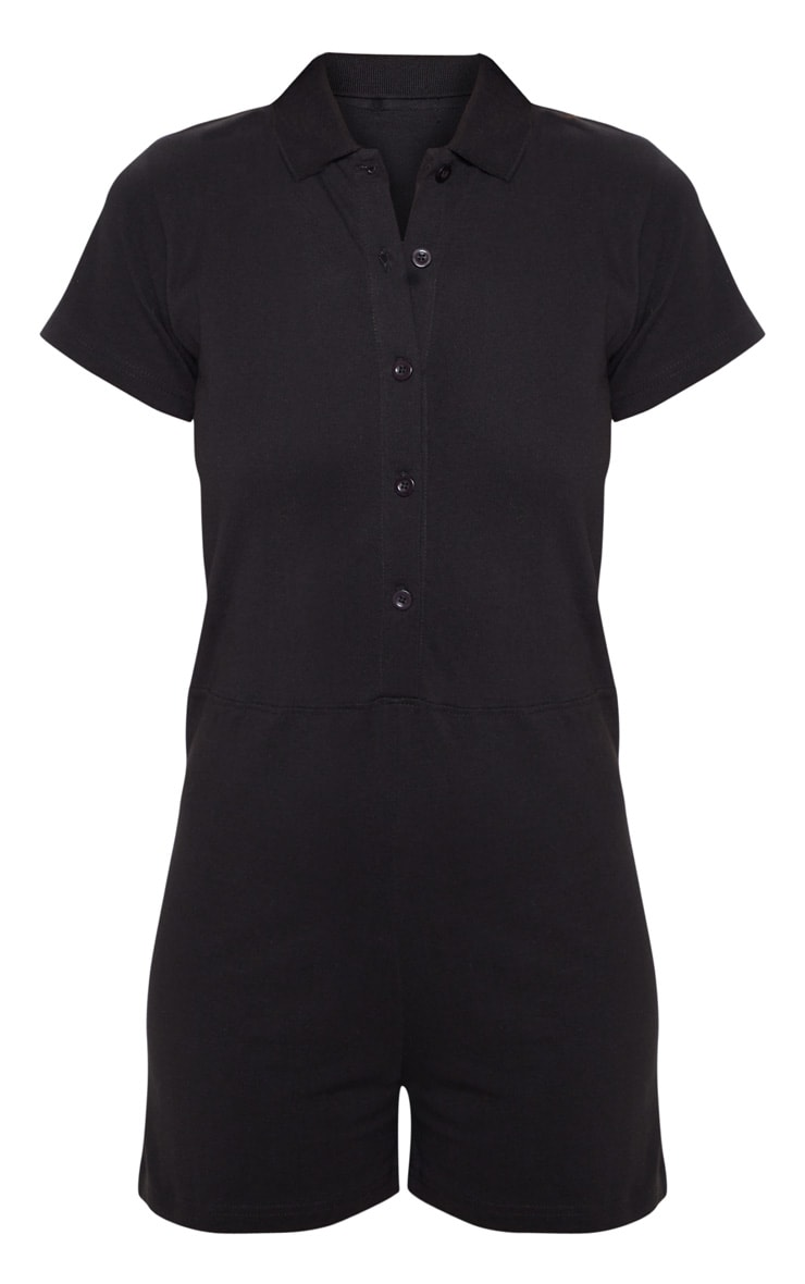 Combishort noir style polo 3