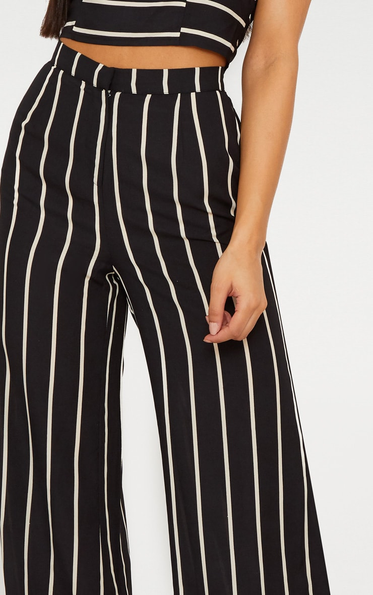 Black Striped Wide Leg Trousers 5