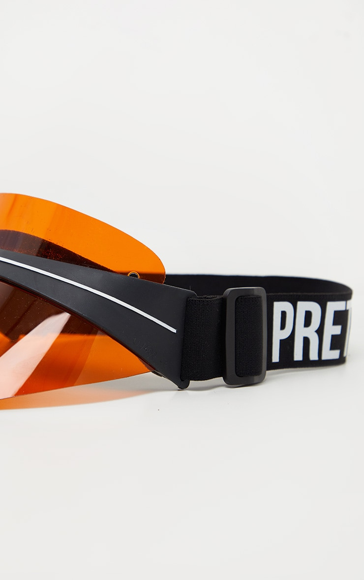 PRETTYLITTLETHING Orange Visor 4