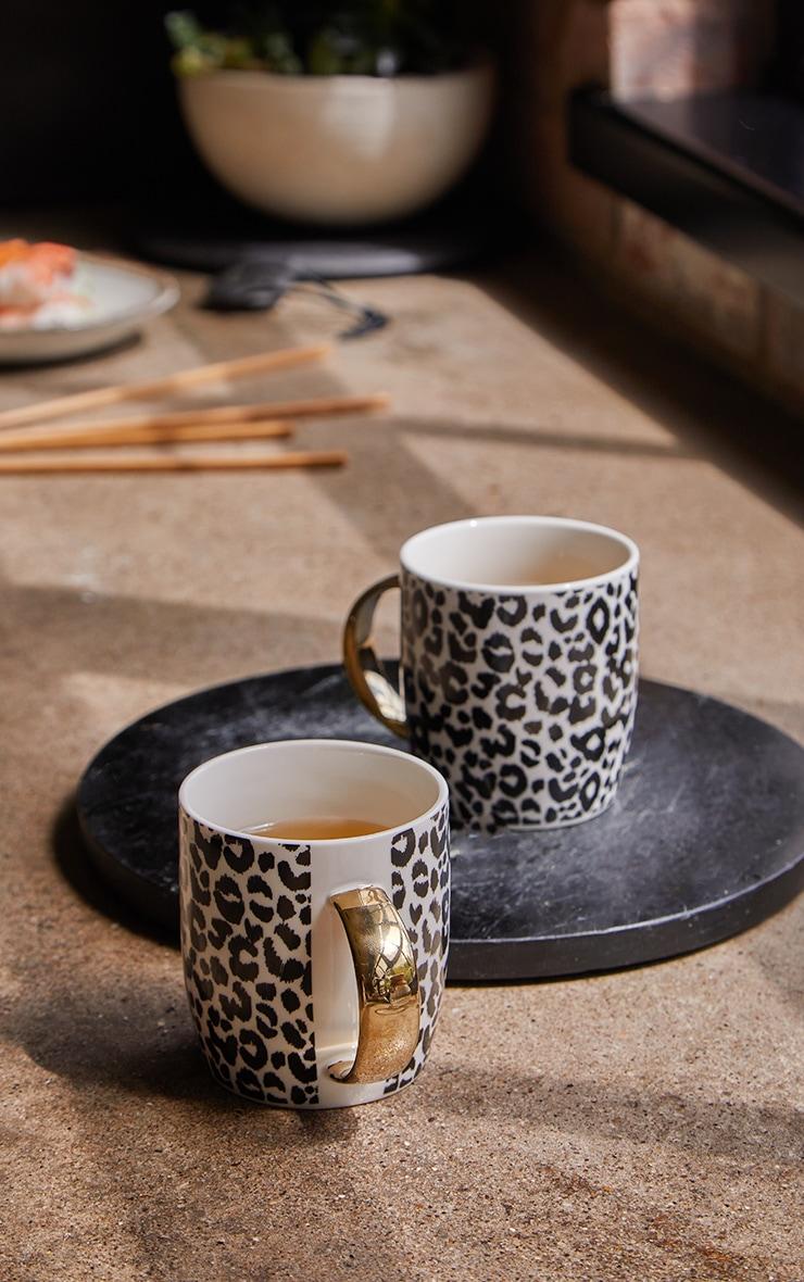 Leopard Print 2 Pack Mugs 1
