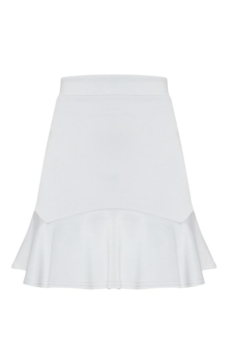 Grey Flippy Hem Mini Skirt 3
