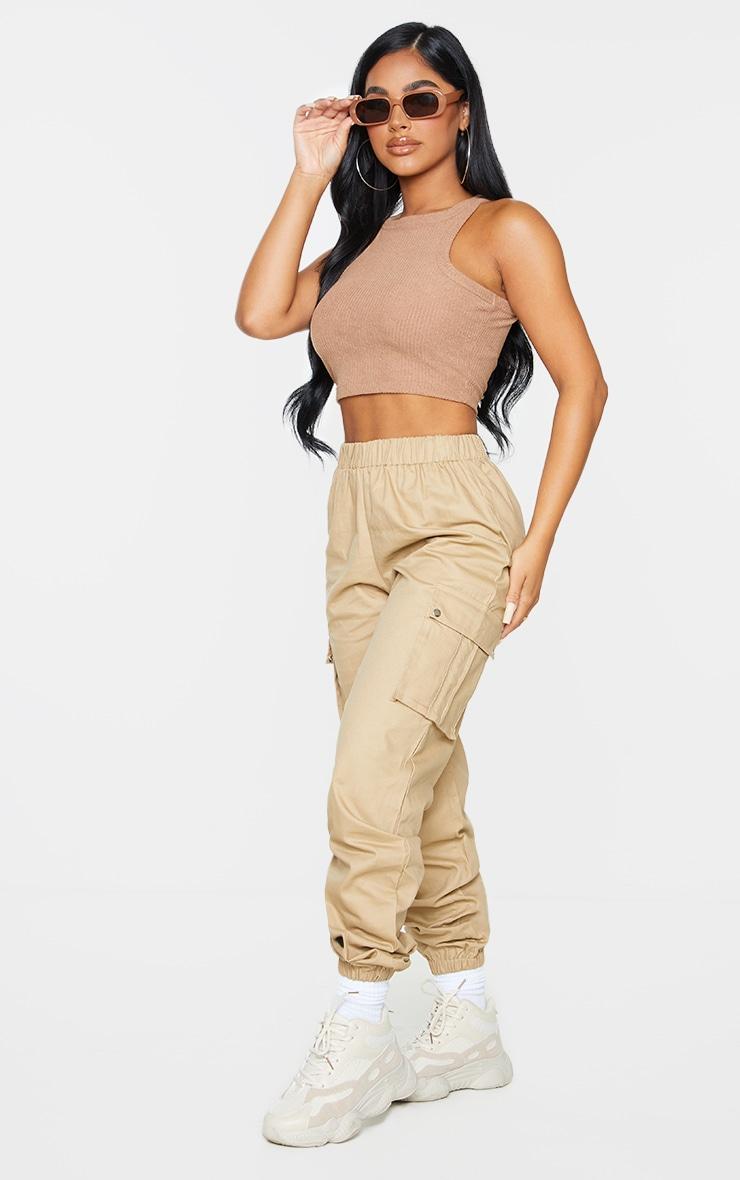 Petite Stone Pocket Detail Cargo Trousers 1