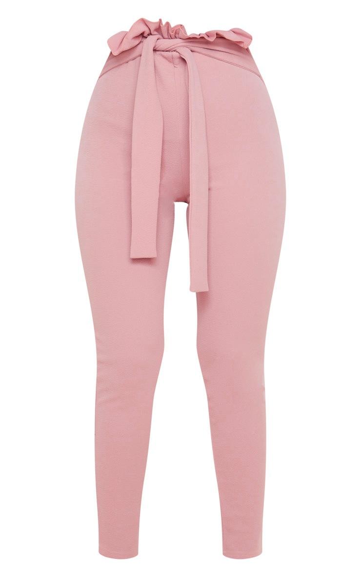 Dusty Pink Paperbag Skinny Pants  3